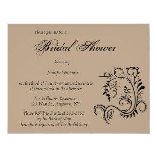 Vintage chic bridal shower invitations