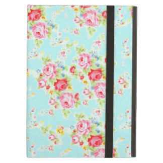 Vintage chic floral roses blue shabby rose flowers iPad air cases