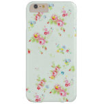 Vintage chic floral roses pink shabby rose flowers barely there iPhone 6 plus case