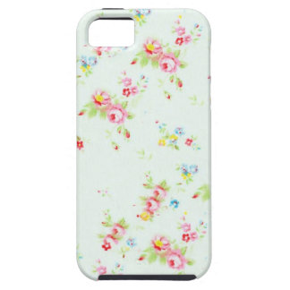 Vintage chic floral roses pink shabby rose flowers tough iPhone 5 case