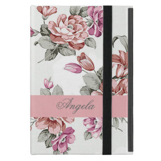 Vintage Chic Girly  Flowers-Personalized iPad Mini Case