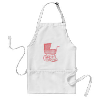 Vintage Chic Pink Baby Carriage Aprons