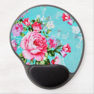 Vintage Chic Pink Floral Gel Mouse Pad