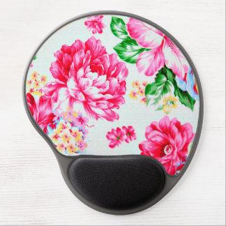 Vintage Chic Pink Flowers Floral Gel Mouse Pad