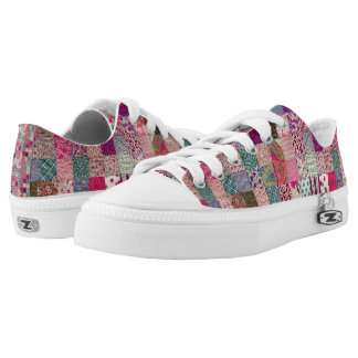 Vintage Chic Quilt  Low Toppers Low Tops