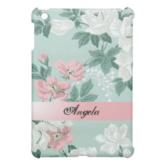 Vintage Chic Shabby Flowers-Personalized iPad Mini Case