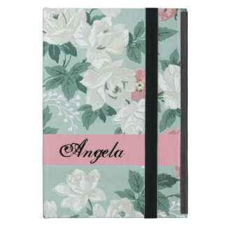 Vintage Chic Shabby Flowers-Personalized iPad Mini Cover