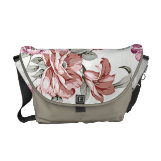 Vintage Chic  Shabby Girly Flowers Courier Bags
