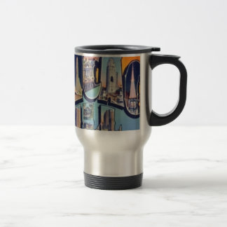 Vintage Chicago City Travel Mug
