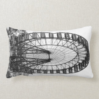 Vintage Chicago Ferris Wheel  American MoJo Pillow