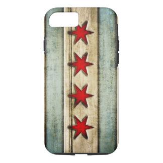Vintage Chicago Flag Distressed Wood Look iPhone 8/7 Case