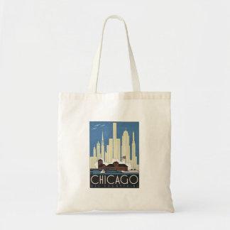 Vintage Chicago Illinois Canvas Bag