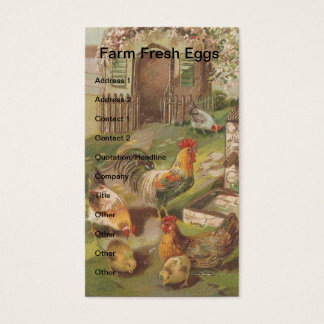 Vintage Chicken Family Business Card