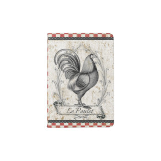 Vintage Chicken Passport Holder