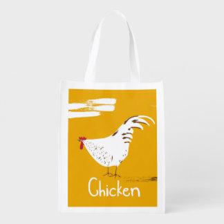 Vintage Chicken Reusable Grocery Bag