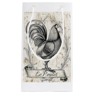 Vintage Chicken Small Gift Bag