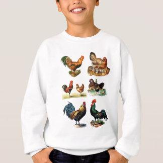 vintage chickens design sweatshirt