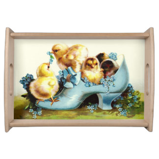 Vintage Chicks Easter Gift Serving Tray