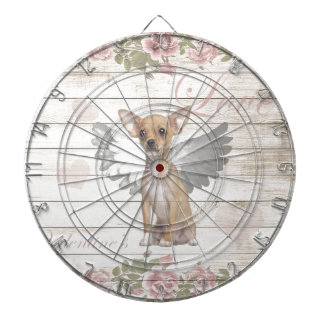 Vintage chihuahua - Valentines day Dartboard