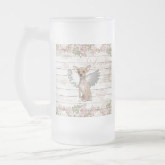 Vintage chihuahua - Valentines day Frosted Glass Beer Mug