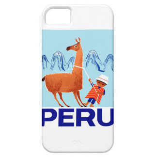 Vintage Child and Llama Peru Travel Poster iPhone 5 Cover