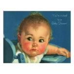 Vintage Child, Cute Boy or Girl Baby Shower Custom Invitation