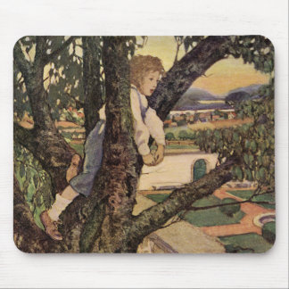 Vintage Child, Foreign Land, Jessie Willcox Smith Mouse Pad