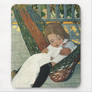 Vintage Child Hammock Doll; Jessie Willcox Smith Mouse Pad