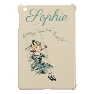 Vintage Child on a Swing Personnalised Cover For The iPad Mini