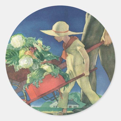 Vintage Child, Organic Gardening; Victory Garden Stickers