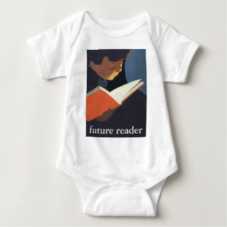 Vintage Child Reading a Book From the Library Baby Bodysuit