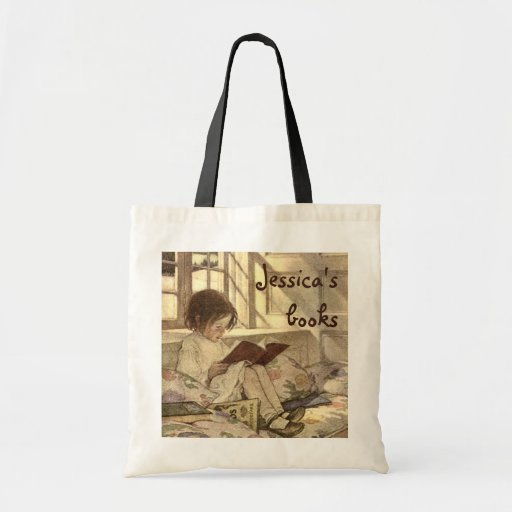 Vintage Child Reading a Book, Jessie Willcox Smith Bag