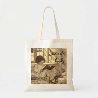 Vintage Child Reading a Book, Jessie Willcox Smith Budget Tote Bag