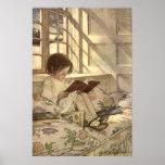 Vintage Child Reading a Book, Jessie Willcox Smith Print