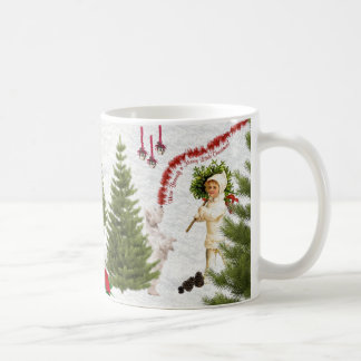 Vintage Child & Westie Wishes For Merry Christmas Mugs