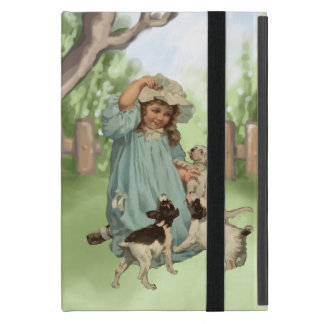 Vintage Child with Terrier Dogs Cover For iPad Mini
