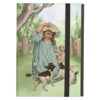 Vintage Child with Terrier Dogs iPad Air Covers