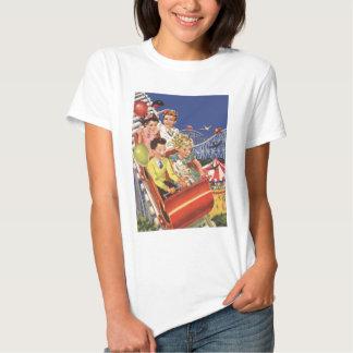 Vintage Children Balloons Dog Roller Coaster Ride Tshirts