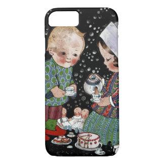 Vintage Children Having a Pretend Tea Party iPhone 7 Case