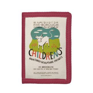 Vintage Children's Art wallets