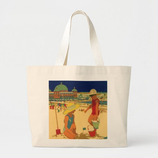 Vintage Children, Sisters Family Vacation at Beach Bag