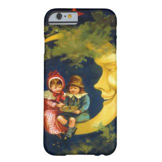 Vintage children sitting on the crescent moon barely there iPhone 6 case