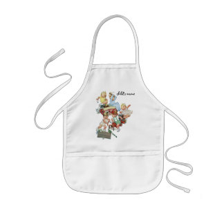 Vintage Children Toddlers Playing with Fire Trucks Kids Apron