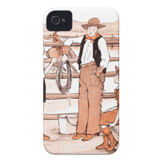 Vintage Child's Book - Talking to the Cowboy iPhone 4 Cases