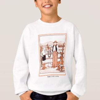 Vintage Child's Book - Talking to the Cowboy Sweatshirt
