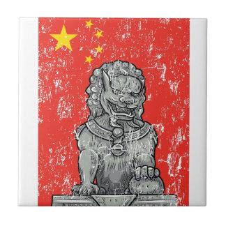 vintage china chines statue ceramic tile