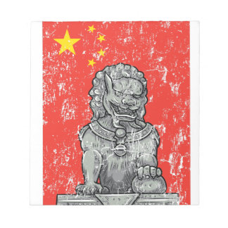 vintage china chines statue notepad