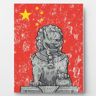 vintage china chines statue plaque