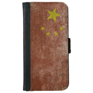 Vintage China Flag iPhone 6 Wallet Case