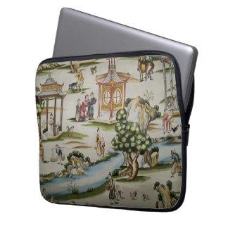 Vintage China Toile Scene Laptop Sleeve